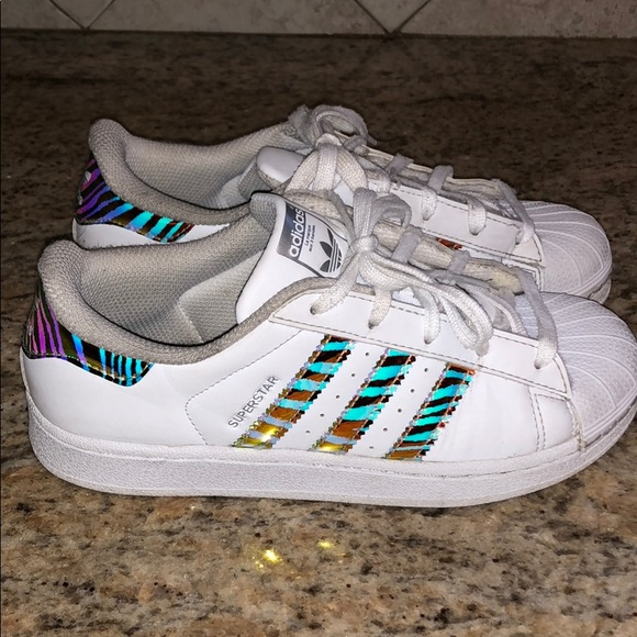 Adidas Superstar Sneakers with Zebra print.